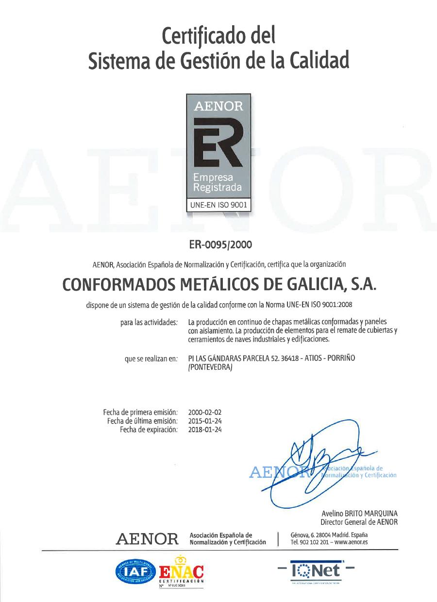 Certificado ER 2015