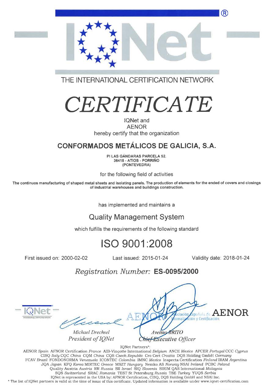 Certificado Q 2015